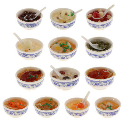 1:12 Dollhouse Miniatures Chinese Food in Bowl Kitchen Dining Table Accessories