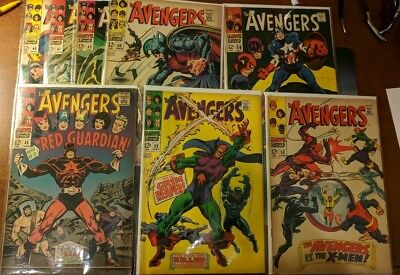 The might avengers silver age lot 40, 41, 43, 45, 50, 52, 53, 56