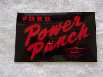 Collectible Nascar  Drag Racing Ford Power Punch Battery Racing Decal