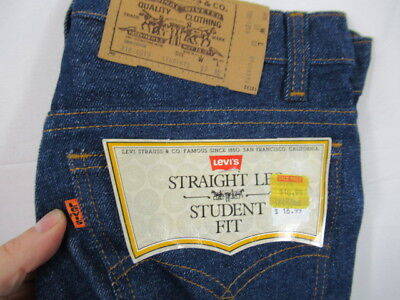 MENS VTG Levis Orange Tab Dark Denim Jeans 27x32 100% Cotton USA Blue