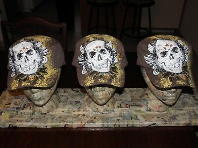New With Tags Lot Of 3 Pugs Gear Skull (Baseball Type) Capt No Res Fs  #1