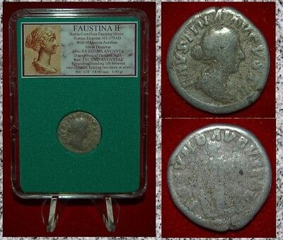 Ancient Roman Empire Coin Of FAUSTINA II Fecunditas On Reverse Silver Denarius