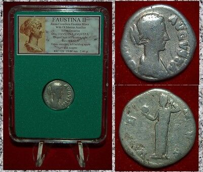 Ancient Roman Empire Coin Of FAUSTINA II Venus On Reverse Silver Denarius