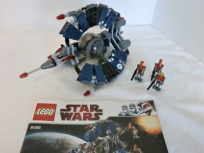 Lego Star Wars Droid Tri Fighter 8086 Complete W Instructions And