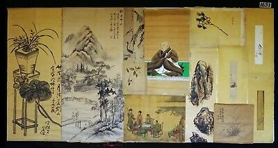 13x 19C/20C Japanese Mixed Lot Paintings, Drawings, Calligraphies (HMA) #1631