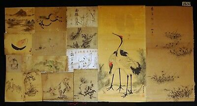 15x 19C/20C Japanese Mixed Lot Paintings, Drawings, Calligraphies (HMA) #1633