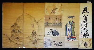 10x 19C/20C Japanese Mixed Lot Paintings, Drawings, Calligraphies (HMA) #1637