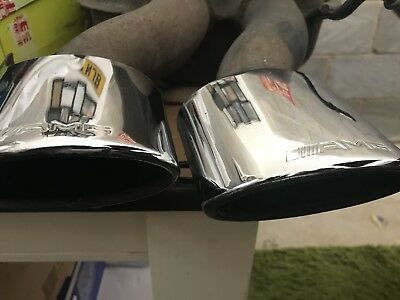 """1 X TWIN CLK55AMG 5"""" POLISHED STAINLESS STEEL EXHAUST TIPS (2.3"""" Inlet)"""