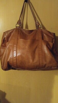 Men's Genuine Vintage Leather Large Travel Gym Weekend Overnight Bag