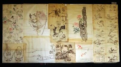 9x 19C/20C Japanese Mixed Lot Paintings, Drawings, Calligraphies (HMA) #1977