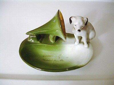 RCA Victor Nipper HIS MASTER'S VOICE Porcelain Fairing Antique German Figurine