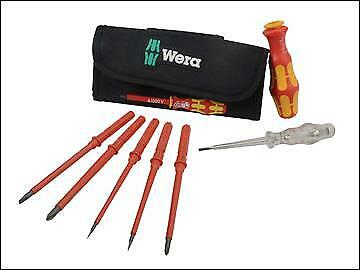 Wera 05136248001 Kraftform Kompakt VDE Interchangeable Screwdriver Set 7pc