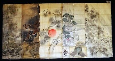 8x 19C/20C Japanese Mixed Lot Paintings, Drawings, Calligraphies (HMA) #1986