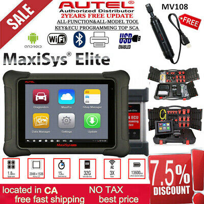 Genuine Autel MaxiSYS Elite J2534 Passthru ECU Program Diagnostic Scanner MS908