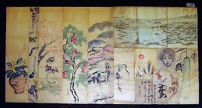16x 19C/20C Japanese Mixed Lot Paintings, Drawings, Calligraphies (HMA) #2001