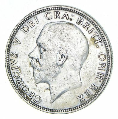 Roughly Half Dollar Size - 1936 Great Britain 1 Florin - Silver Coin 11.2g *510