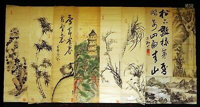 10x 19C/20C Japanese Mixed Lot Paintings, Drawings, Calligraphies (HMA) #2003