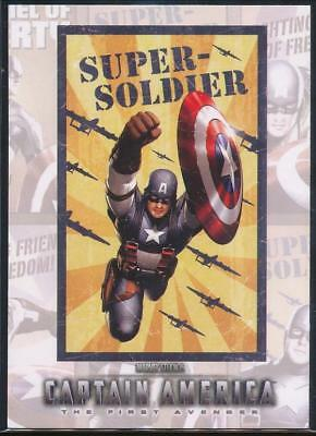 2011 Captain America Movie Posters Trading Card #P3 Super Soldier