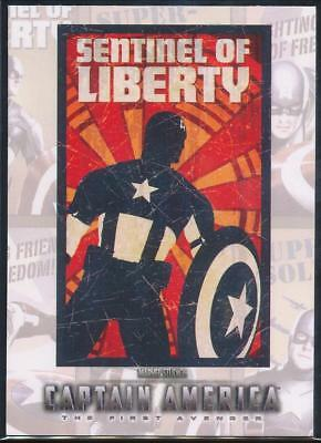 2011 Captain America Movie Posters Trading Card #P8 Sentinel of Liberty
