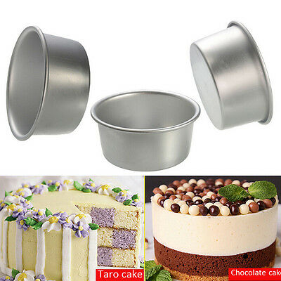 4/5/6/8/9'' Aluminum Alloy Non-stick Round Cake Baking Mould Pan Bakeware CH
