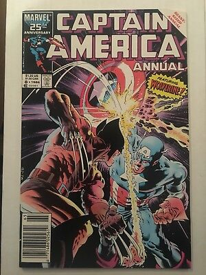 Captain America Annual #8 Marvel Classic Zeck Cover White Pages High Grade