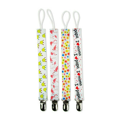 4X Baby Kids Chain Clip Holders Leash For Boy Girl Dummy Pacifier Soother Nipple