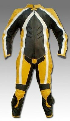 Custom Tailor Made Leather Sports Racing Motorcycle Suit Padded Model RK-111