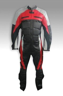 Custom Tailor Made Leather Sports Racing Motorcycle Suit Padded Model RK-471