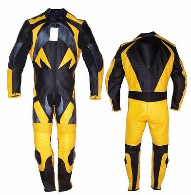 Custom Tailor Made Leather Sports Racing Motorcycle Suit Padded Model RK-2059