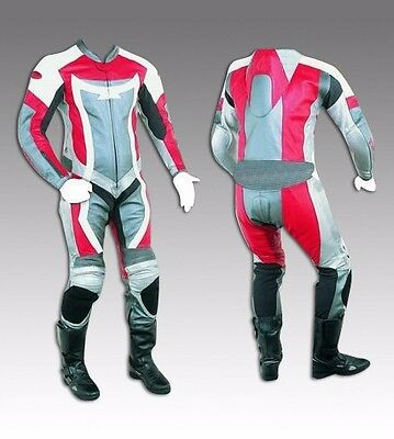 Custom Tailor Made Leather Sports Racing Motorcycle Suit Padded Model RK-492