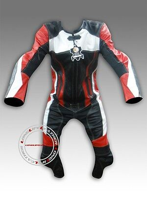 Custom Tailor Made Leather Sports Racing Motorcycle Suit Padded Model RK-470