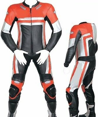 Custom Tailor Made Leather Sports Racing Motorcycle Suit Padded Model RK-2060