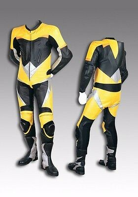 Custom Tailor Made Leather Sports Racing Motorcycle Suit Padded Model RK-485
