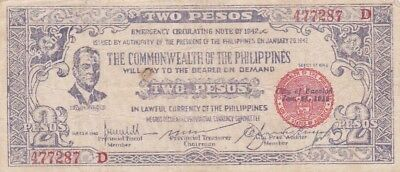 1942 Philippines Negros Occidental 2 Pesos Note, PS647B