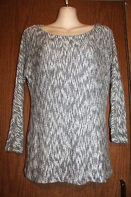 a pea in the pod Maternity Rayon blend Crew Neck 3/4 Sleeve Pullover Sweater S