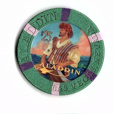 Obsolete $25 First Issue Chip From Aladdin Casino In Vegas