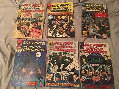 Sgt. Fury 6 Issue Lot. Includes Issue 3. HTF Great Deal. Look