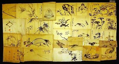 27x 19C/20C Japanese Mixed Lot Paintings, Drawings, Calligraphies (HMA) #2037