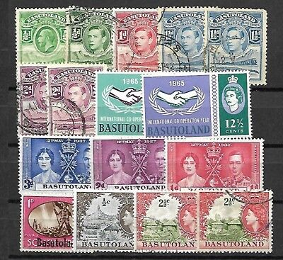 Basutoland Lot / Collection Of 16 Stamps
