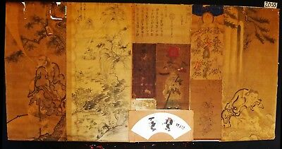 10x 19C/20C Japanese Mixed Lot Paintings, Drawings, Calligraphies (HMA) #2055