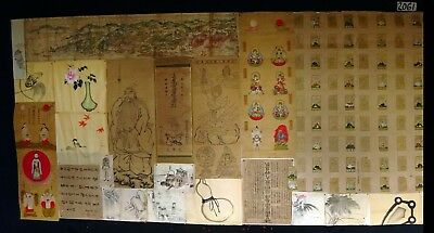 22x 19C/20C Japanese Mixed Lot Paintings, Drawings, Calligraphies (HMA) #2061
