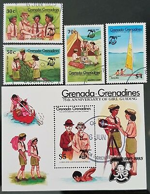 Grenada Grenadines 1985 Guides Sc # 657 - Sc # 661 Mini Sheet Mint CTO Stamps