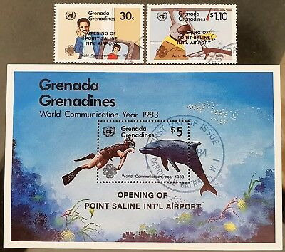 Grenada Grenadines 1984 Aviation Sc #629 - Sc # 630a Mini Sheet Mint CTO Stamps
