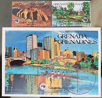 Grenada Grenadines 1984 Sc # 616 - Sc # 618 Mini Sheet Mint CTO Stamps