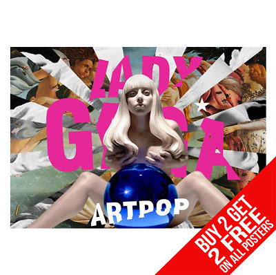 Lady Gaga Artpop Poster Art Print A4 A3 Size - Buy 2 Get Any 2 Free