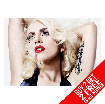 Lady Gaga Poster Art Print A4 A3 Size - Buy 2 Get Any 2 Free