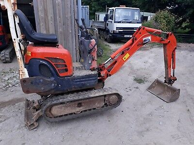 kubota k008.3 mica digger 2004 and ifor Williams trailer