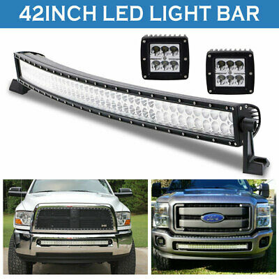 40inch LED Work Light Bar +Pods Offroad Truck Jeep Ford Baot Fog ATV UTE SUV 42
