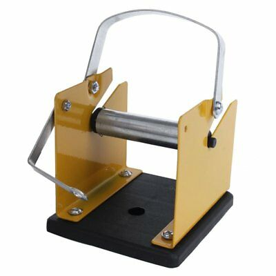 Yellow Black Metal Solder Wire Stand Holder Support V4Z9