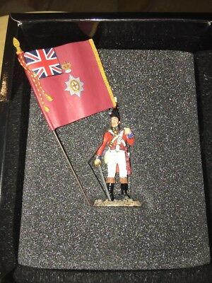 King & Country NA126 CG Officer W/ Regimental Col (Napolionics) Soldier Figurine